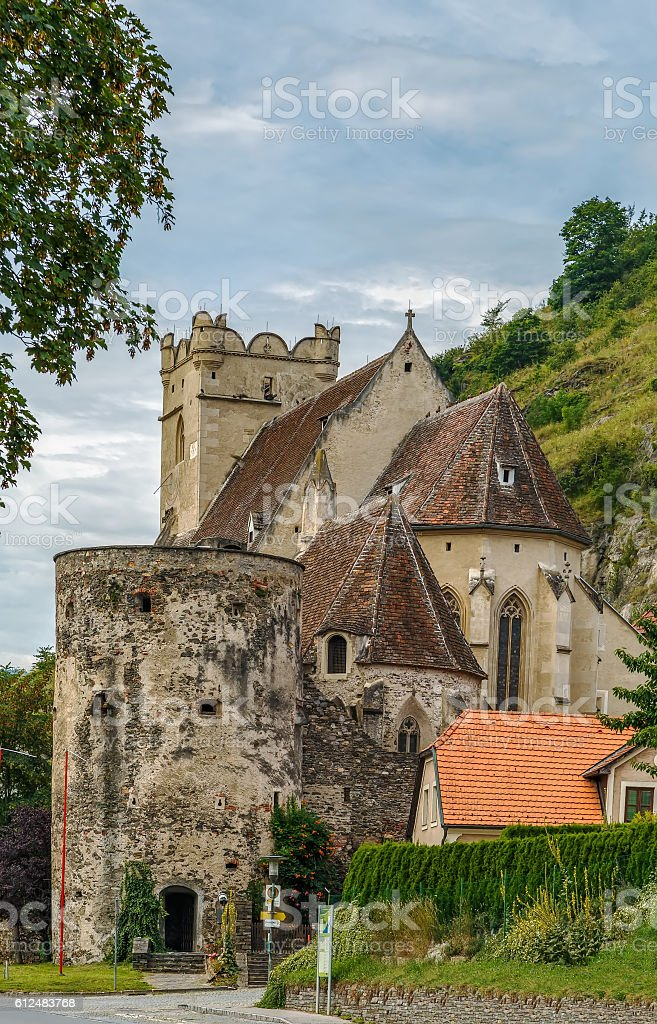 st. Michael church, Danube valley, Austria stock photo