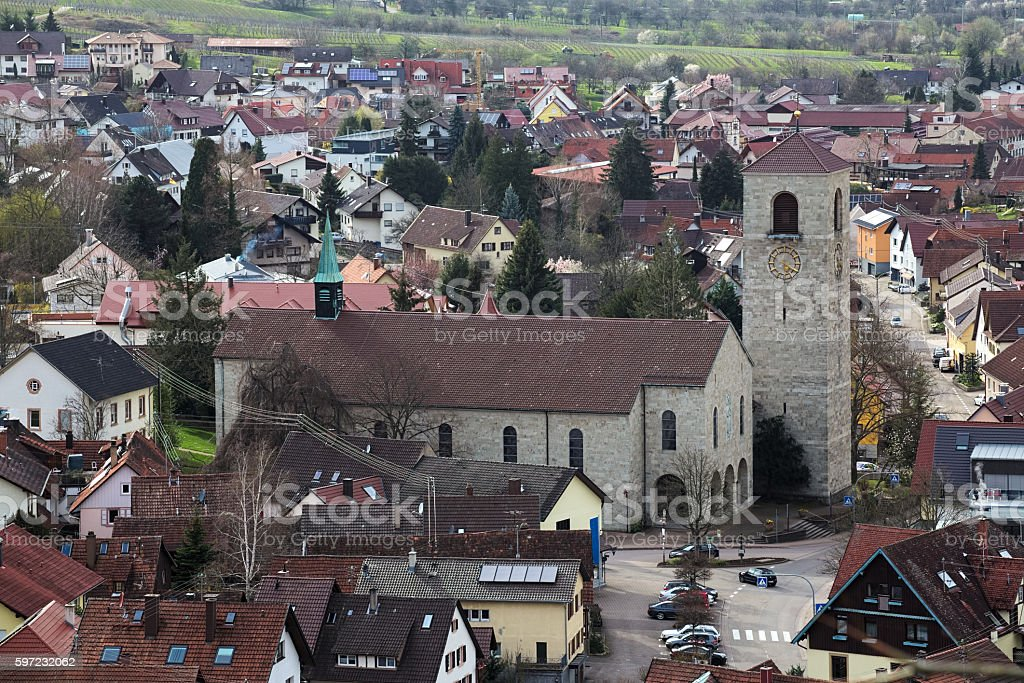St. Michael church in Neuweier, Baden-Wurttemberg, Germany stock photo