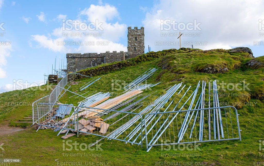 St Michael Church Renovations stock photo