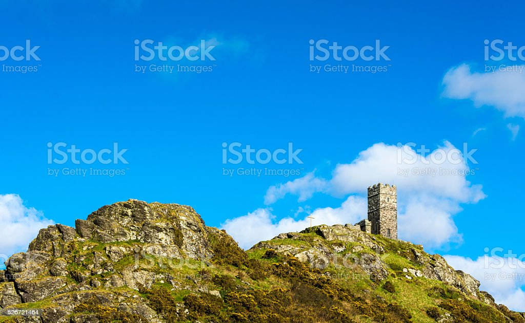 St Michael de Rupe - Dartmoor stock photo