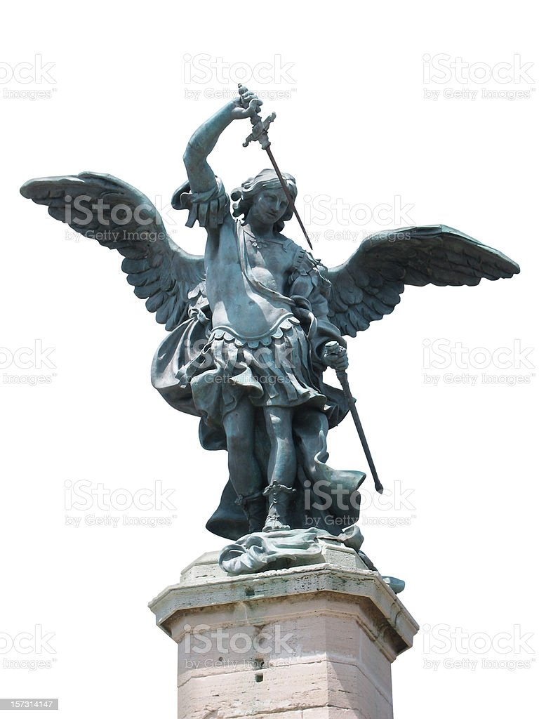 St. Michael statue-ROM Lizenzfreies stock-foto