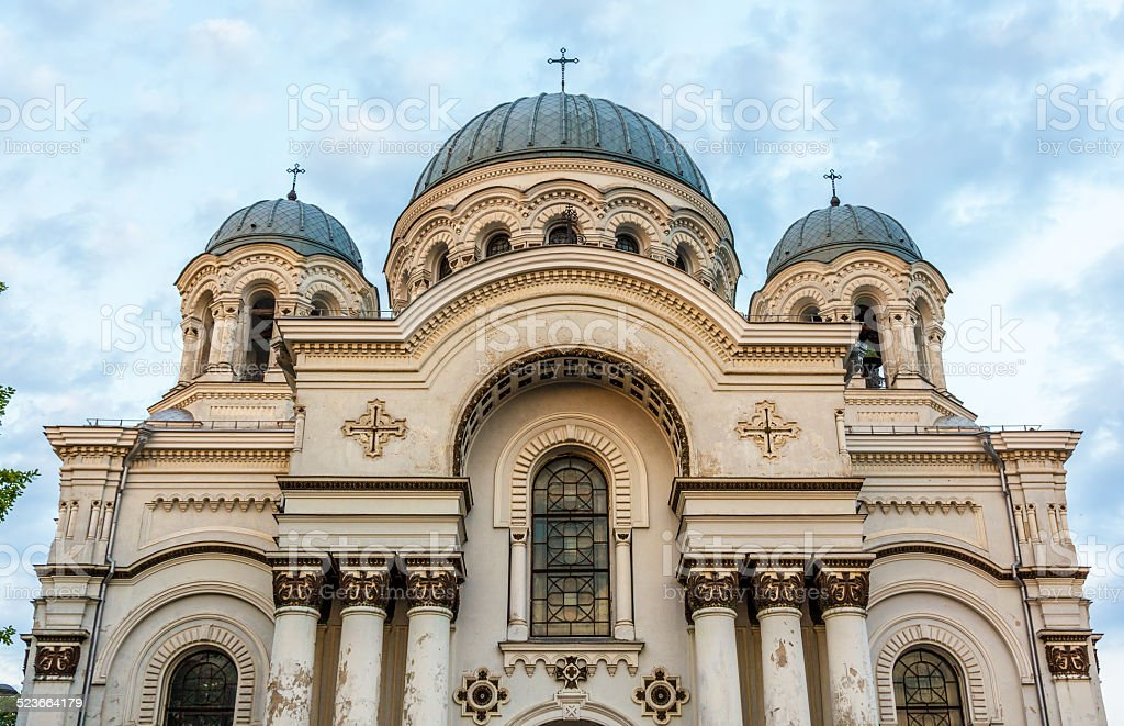 St. Michael the Archangel church in Kaunas, Lithuania stock photo