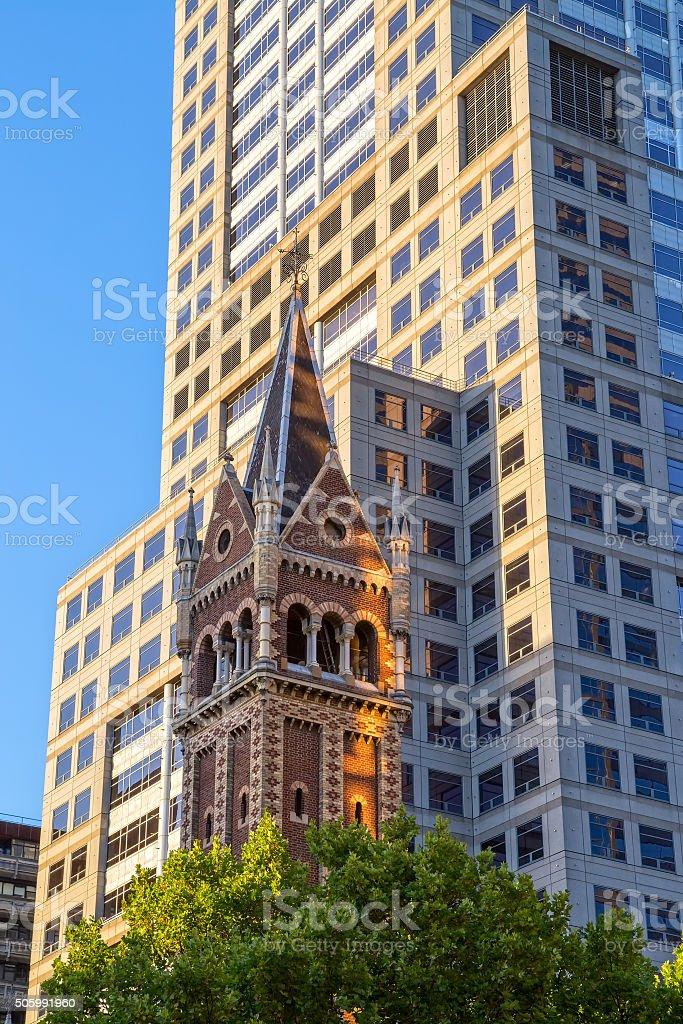 St Michael Uniting Church Melbourne stock photo