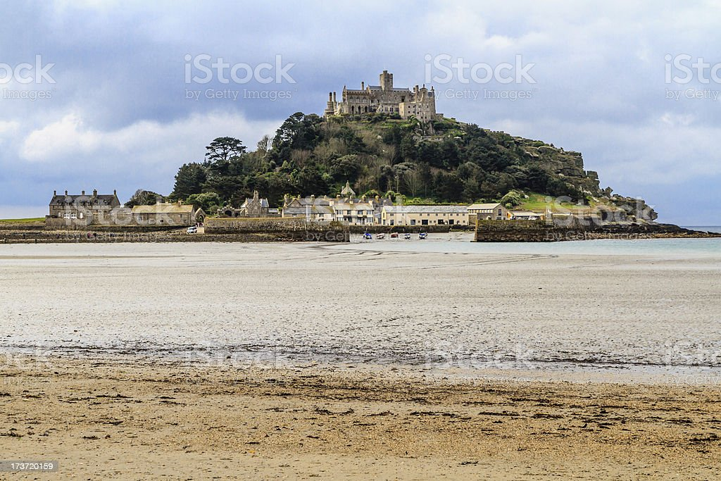 St. Michael´s Mount in Cornwall, UK stock photo