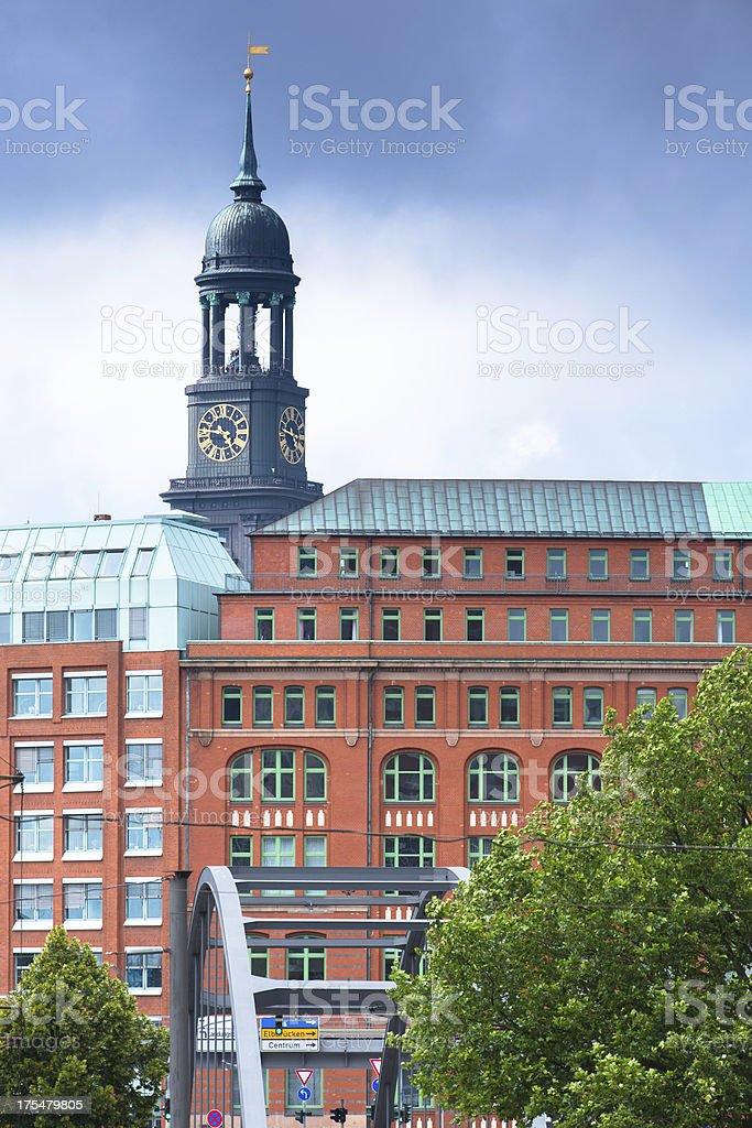 St. Michaelis Church in Hamburg stock photo