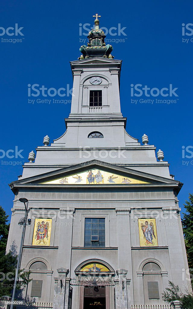 St. Michael's Cathedral, Belgrade stock photo