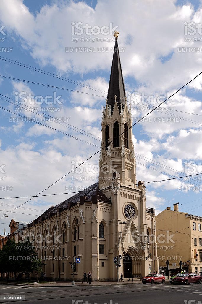 St. Michaels cathedral in St. Petersburg, Russia stock photo