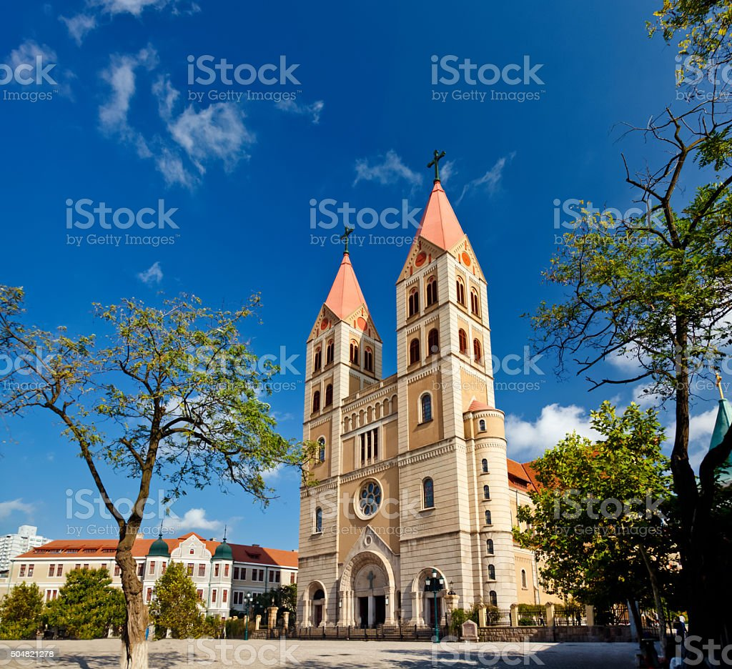 St. Michael's Cathedral, Qingdao stock photo