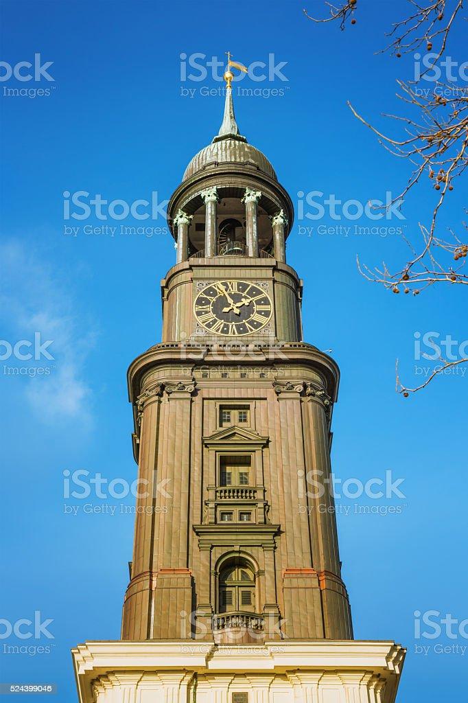 St. Michael's Church, Hamburg stock photo