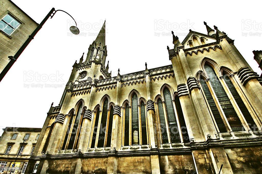 St Michael's church in Bath, Somerset, England stock photo