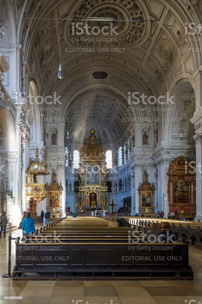 St. Michael's Church in Munich, Germany, 2015 stock photo