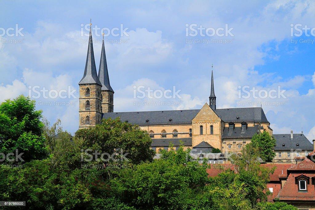 St. Michael's Church of Michaelsberg Abbey in Bamberg, Bavaria, stock photo