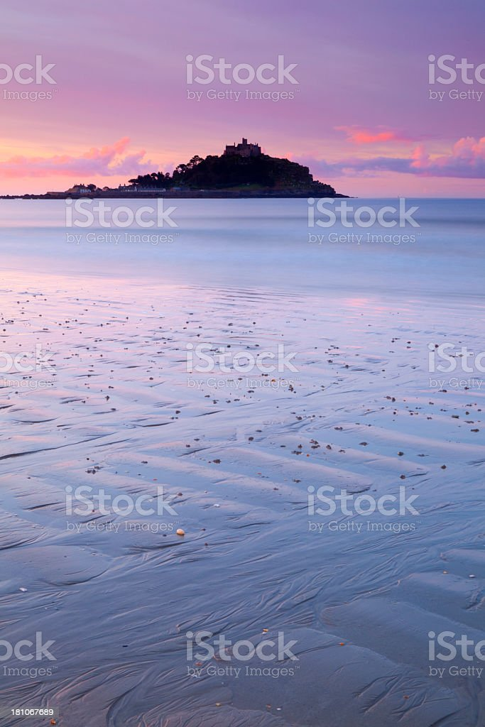 St Michael's Mount At Dawn stock photo