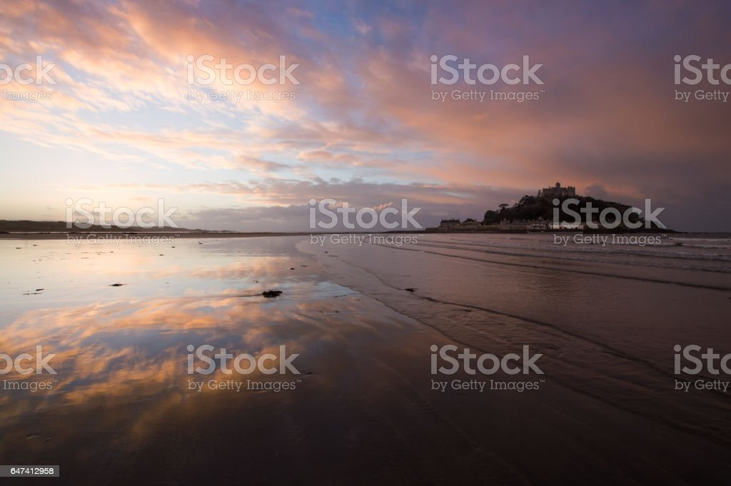 St Michael's Mount at Sunrise stock photo