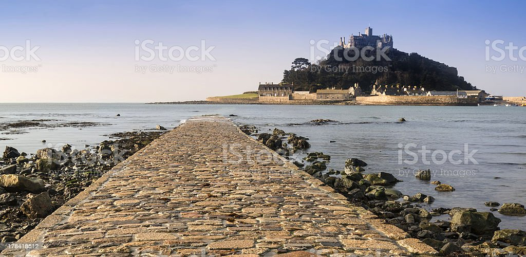 St Michael's Mount Bay Marazion early morning landscape Cornwall England stock photo