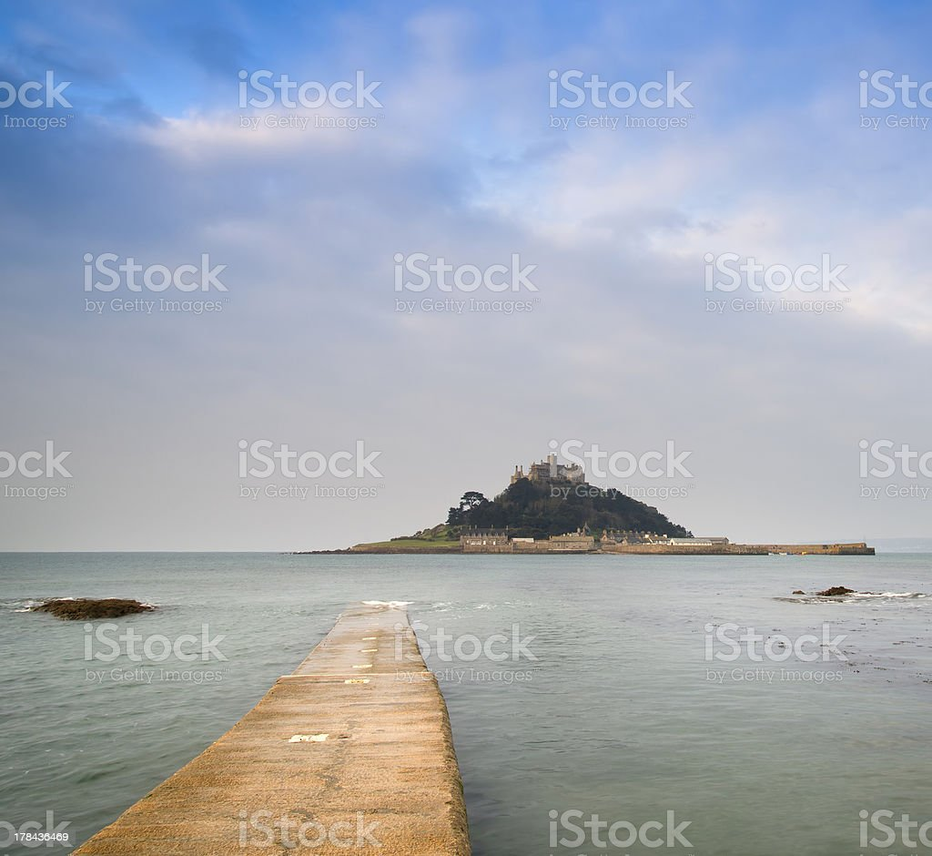St Michael's Mount Bay Marazion early morning landscape stock photo