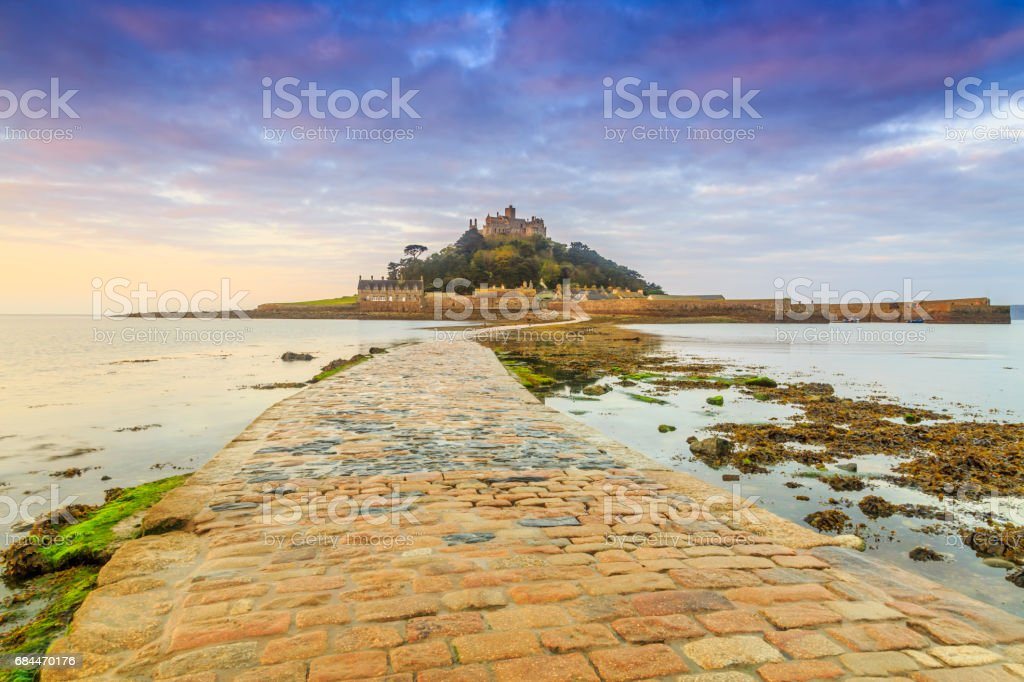 St. Michael's Mount causeway stock photo