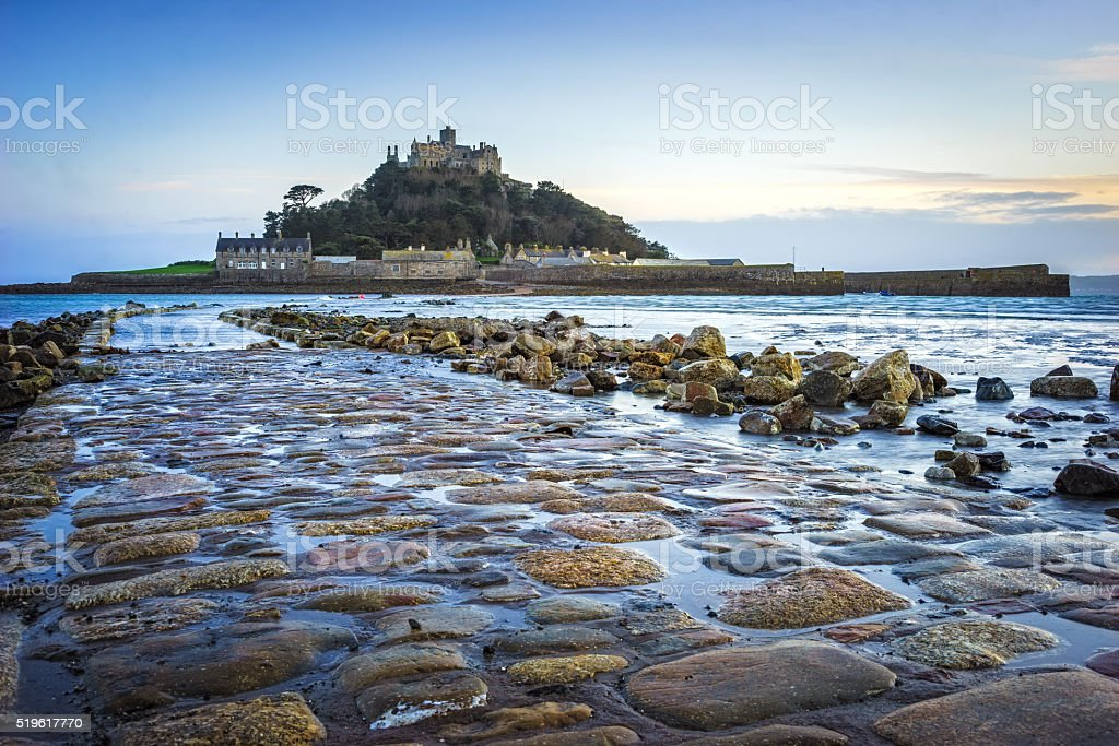 St Michaels Mount Cornwall stock photo