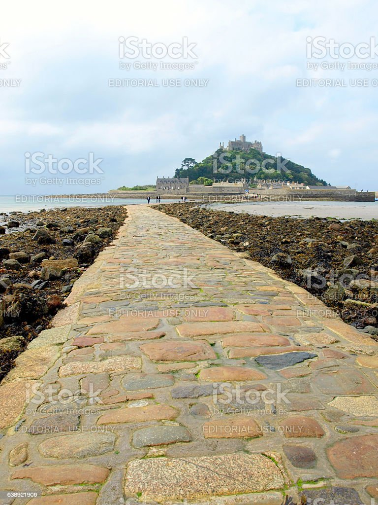 St. Michael's Mount, Cornwall. stock photo