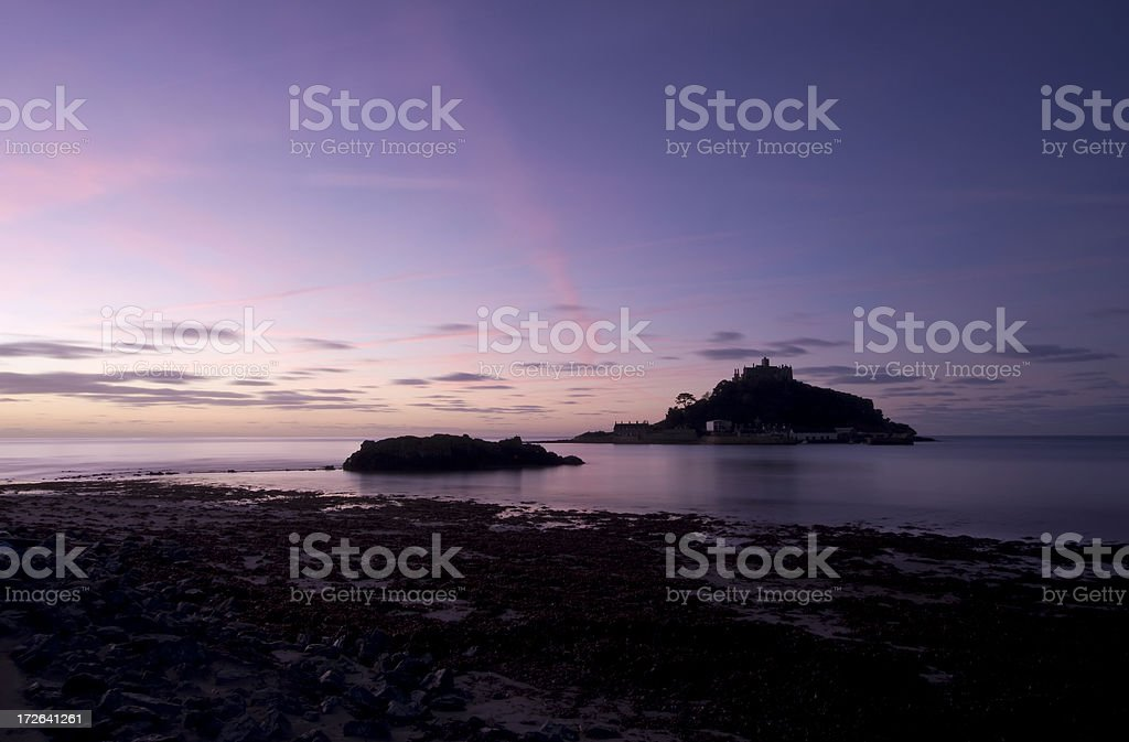 St Michaels Mount Dawn royalty-free stock photo