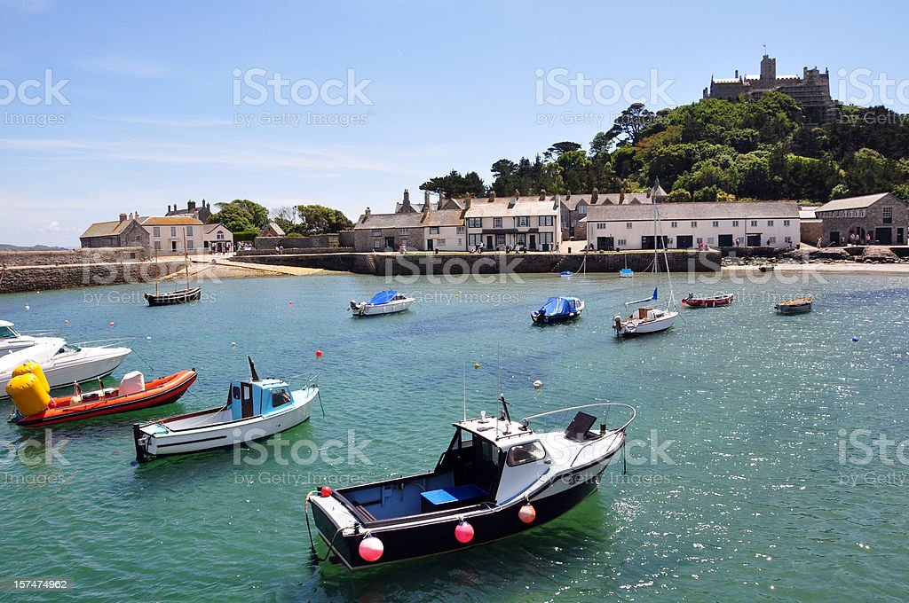 St Michaels Mount - Harbour royalty-free stock photo