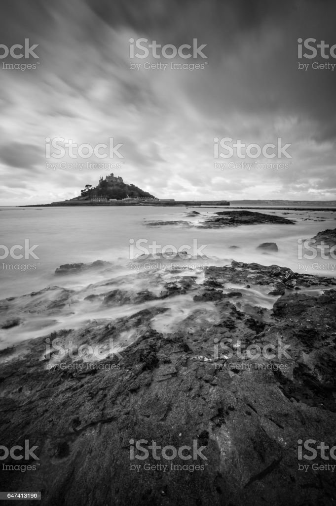 St Michael's Mount in the Morning, Marazion stock photo