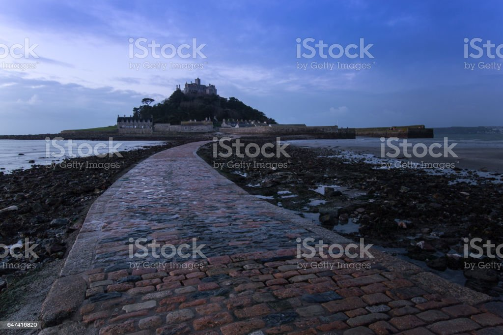 St Michael's Mount, Marazion, at Sunrise stock photo