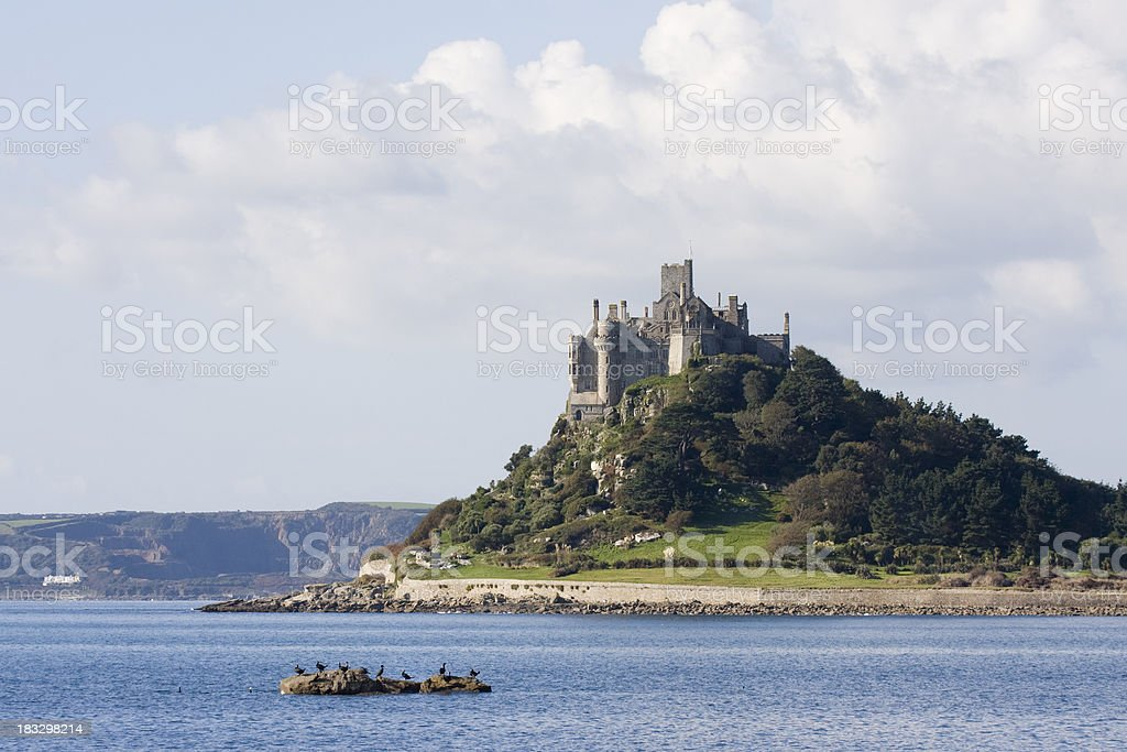 St Michael's Mount on the coast of Cornwall royalty-free stock photo
