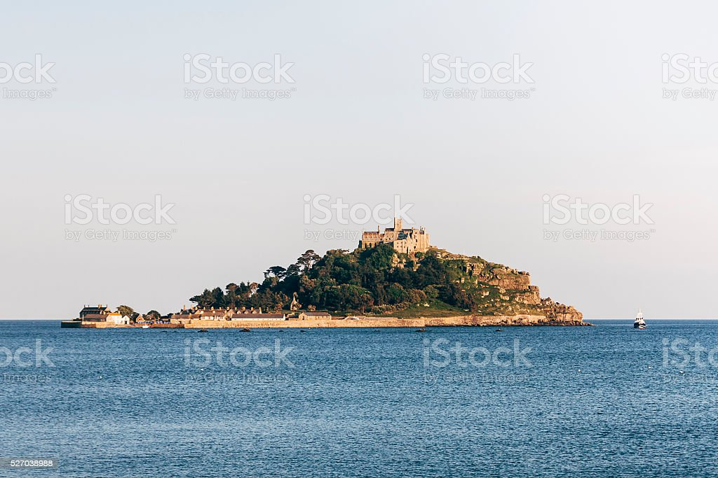 St Michael's Mount on the coast of Cornwall stock photo