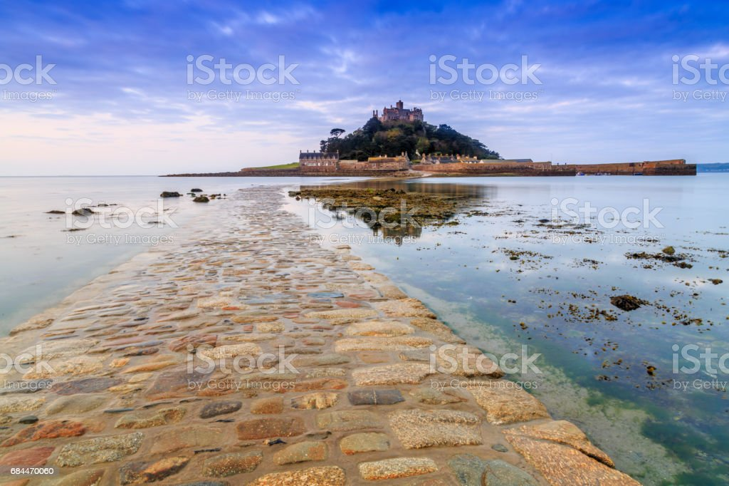 St. Michael's Mount reflection stock photo