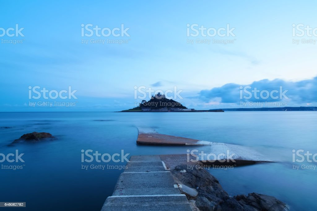 St Michael's Mount St Dusk stock photo
