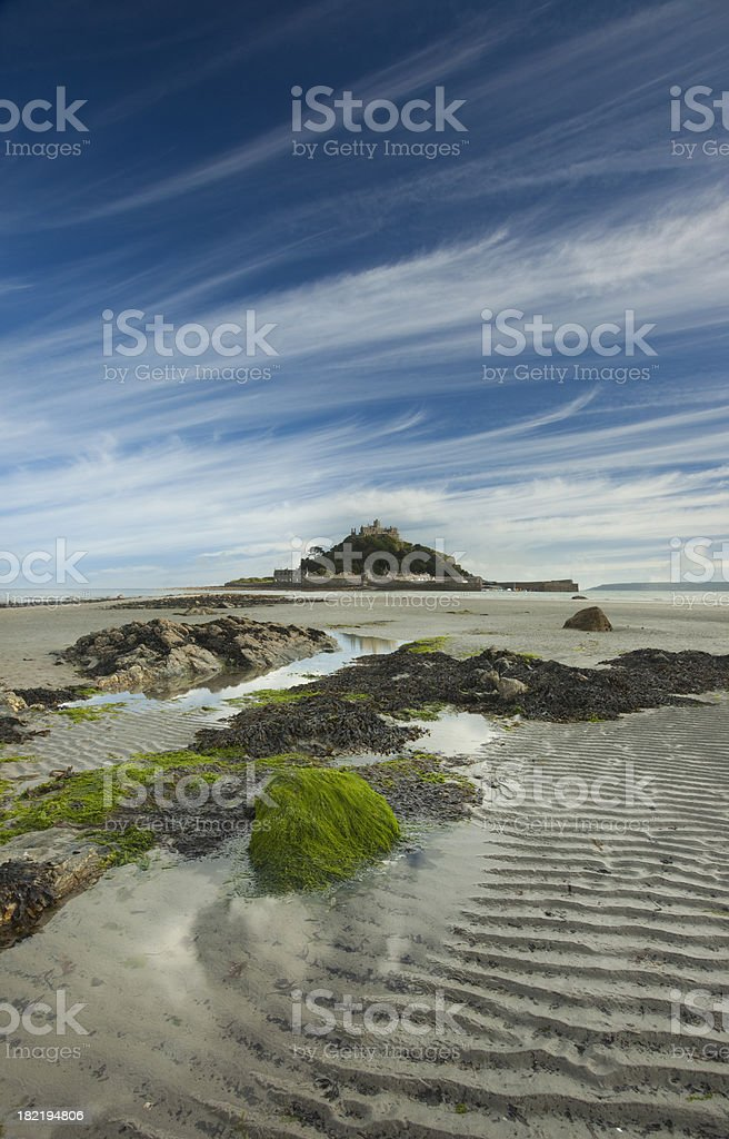 St Michaels mount vertical royalty-free stock photo