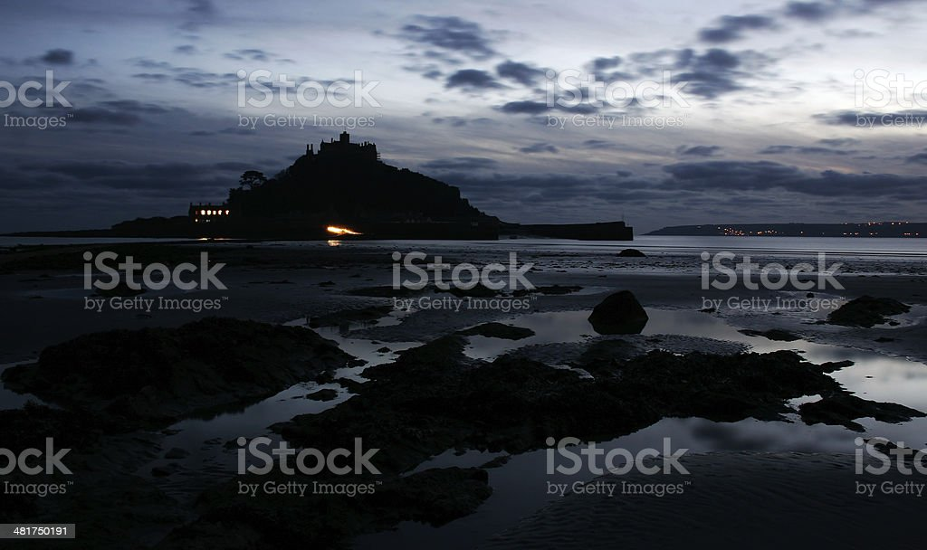 St Micheals Mount Cornwall stock photo