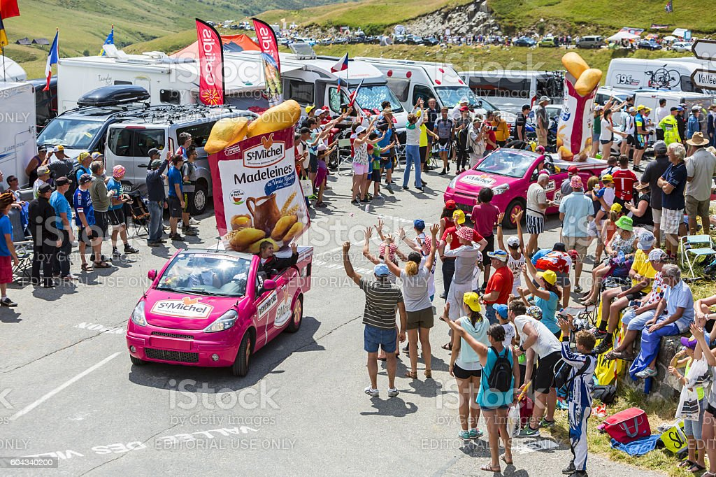 St. Michel Madeleines Caravan - Tour de France 2015 stock photo