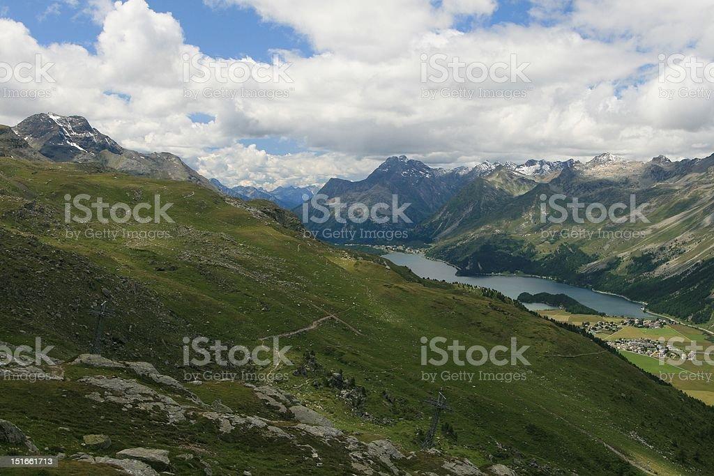 St. Moritz area, Switzerland royalty-free stock photo