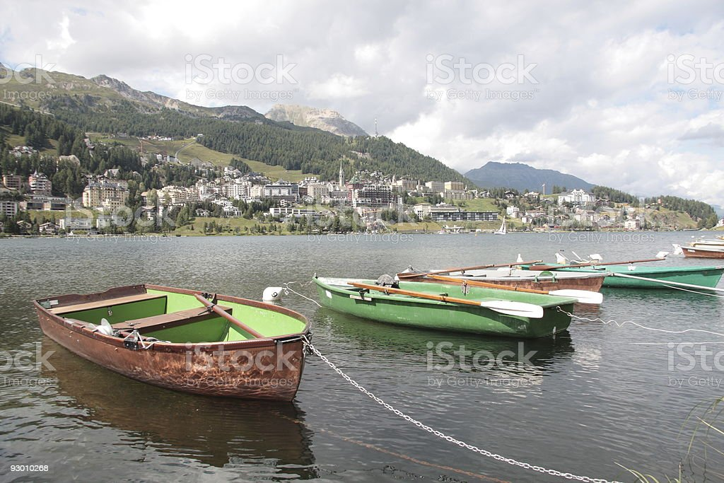 St Moritz, Graubunden, Switzerland stock photo