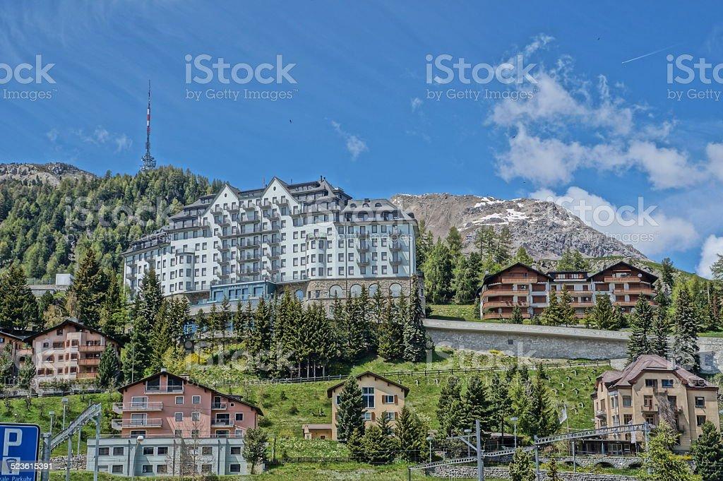 St. Moritz in summertime stock photo