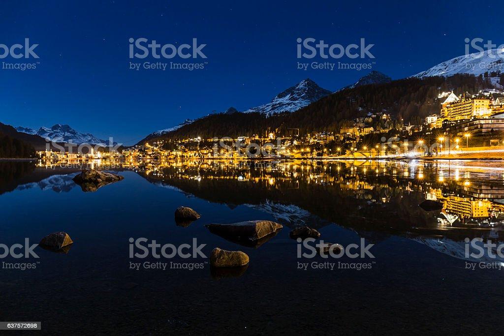 St Moritz in Switzerland stock photo