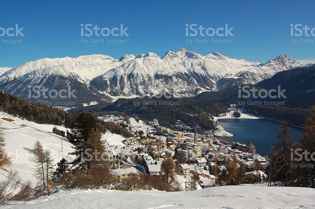St. Moritz, Jet Set Ressort in the Alps (2) stock photo