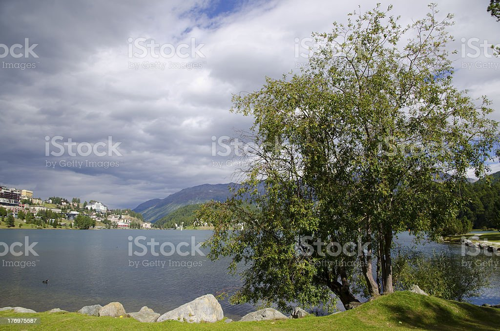 St Moritz lake royalty-free stock photo