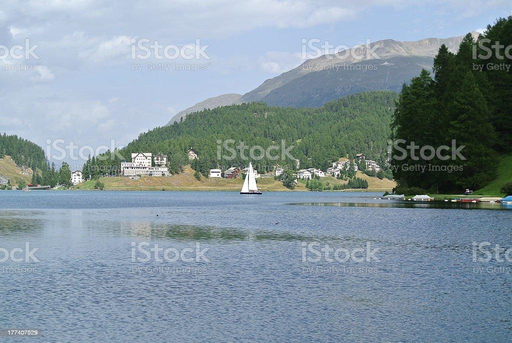 St. Moritz Lake royalty-free stock photo