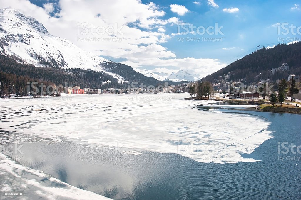 St. Moritz royalty-free stock photo