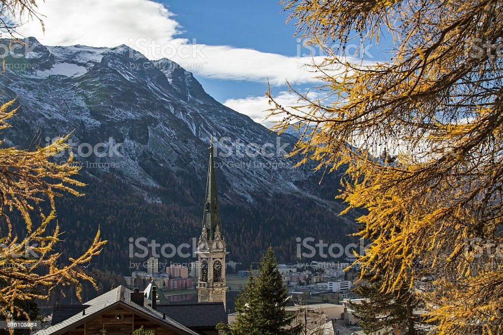 St. Moritz stock photo