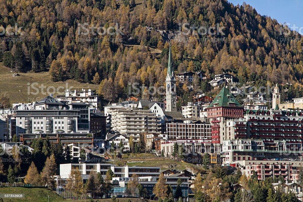St. Moritz stock photo