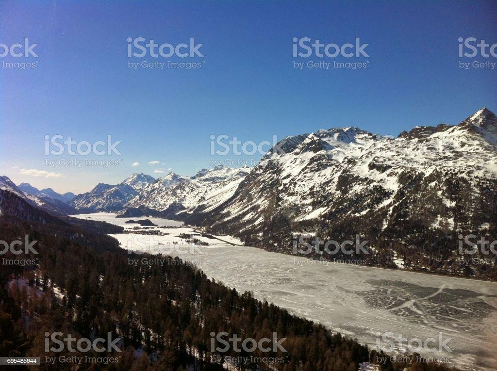 St Moritz stock photo