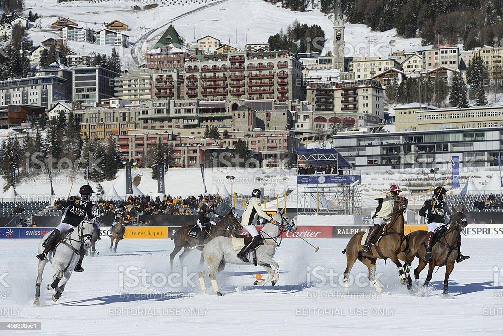 St. Moritz Polo stock photo