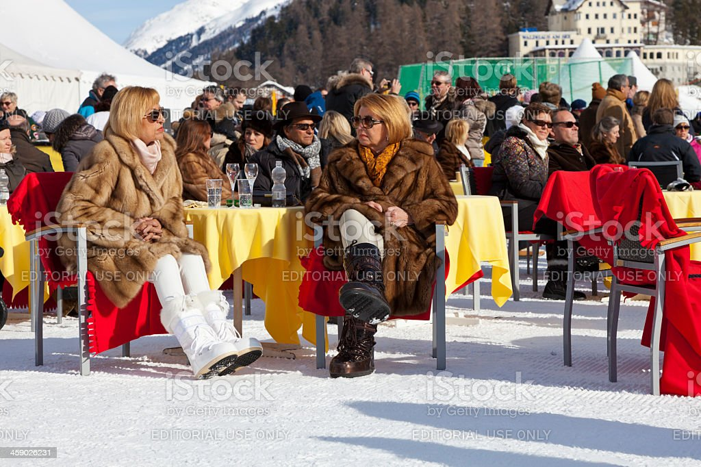 St. Moritz Polo World Cup on Snow 2013 royalty-free stock photo