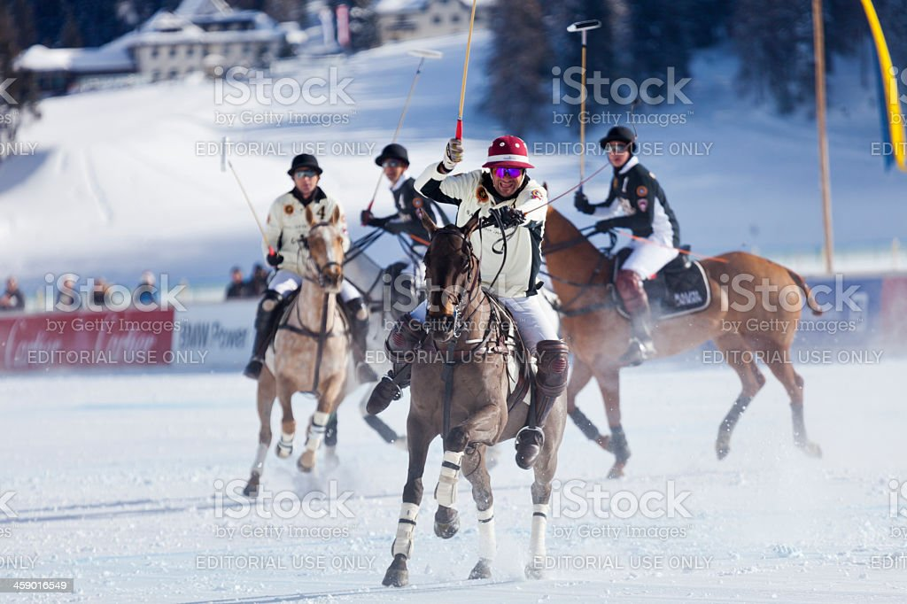 St. Moritz Polo World Cup on Snow royalty-free stock photo
