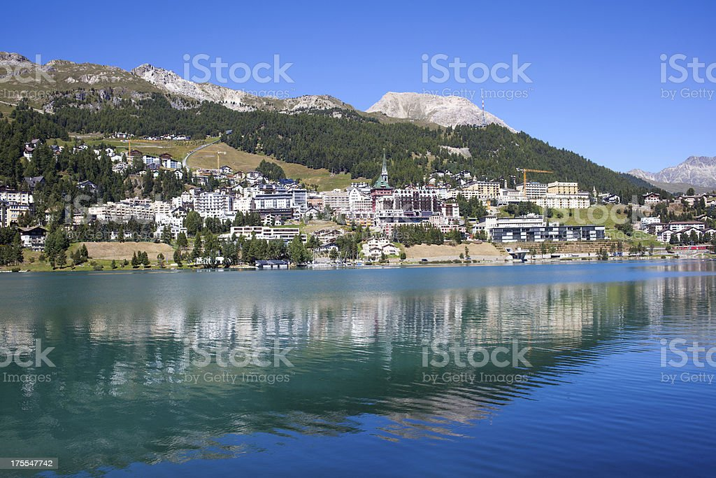 St. Moritz, Switzerland on a sunny day royalty-free stock photo