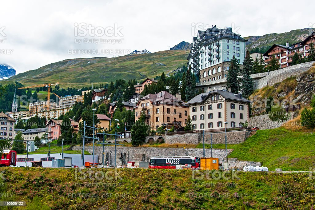 St. Moritz, Switzerland stock photo